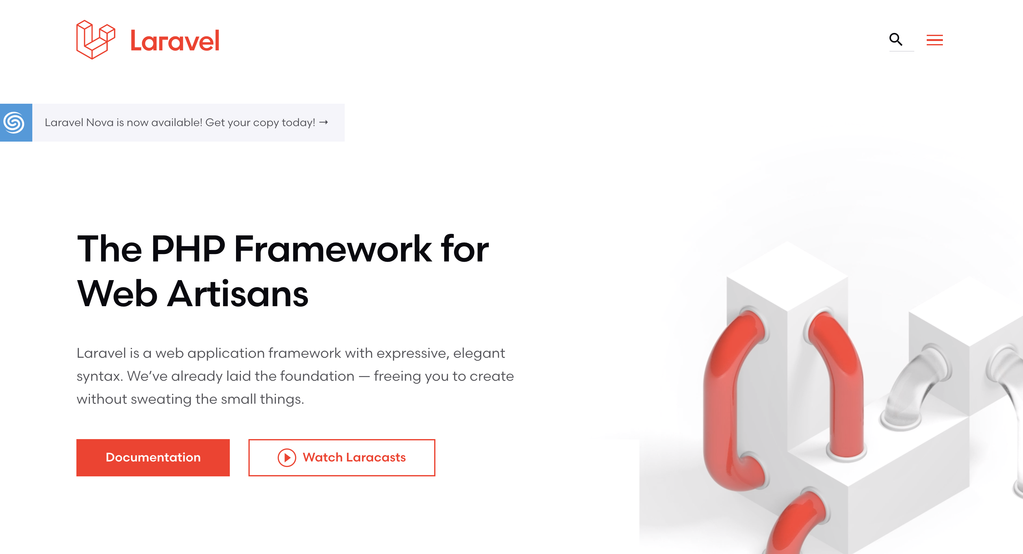 Laravel 6.0 new website