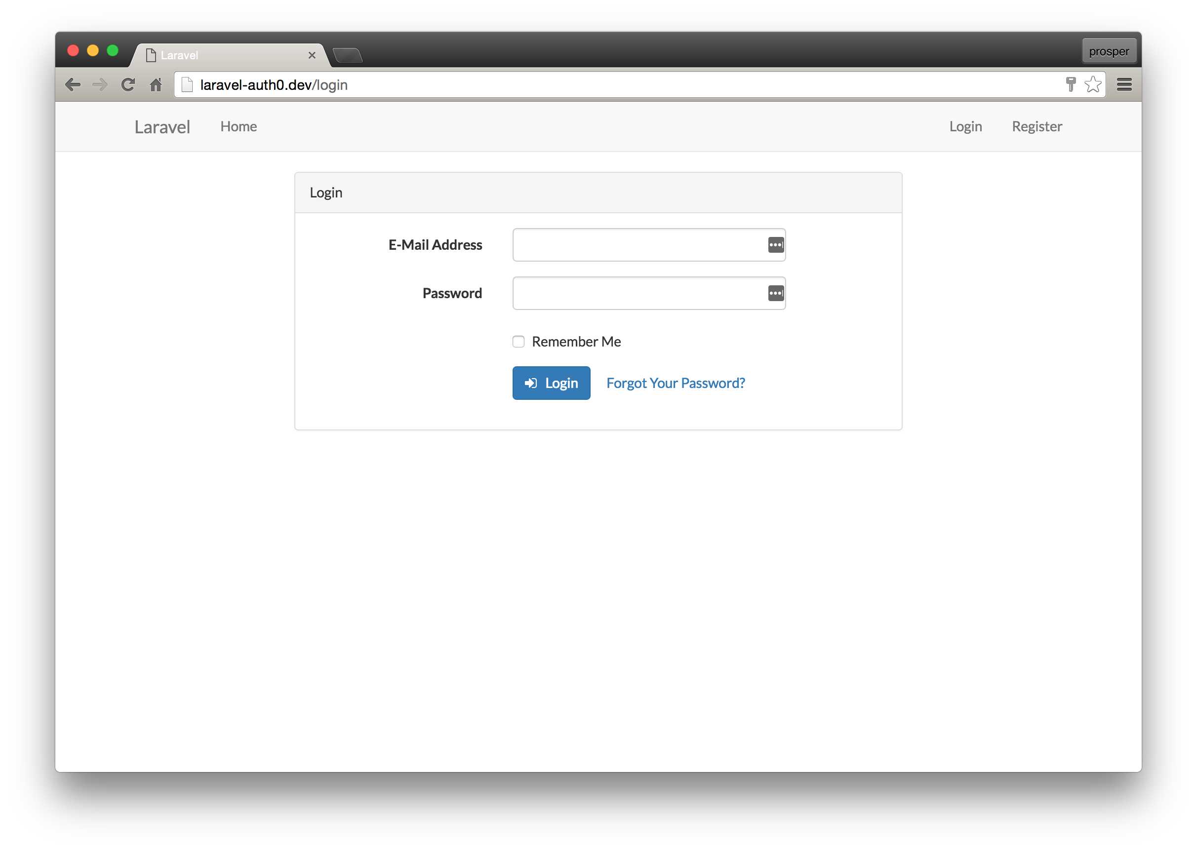 Creating your first Laravel app and adding authentication