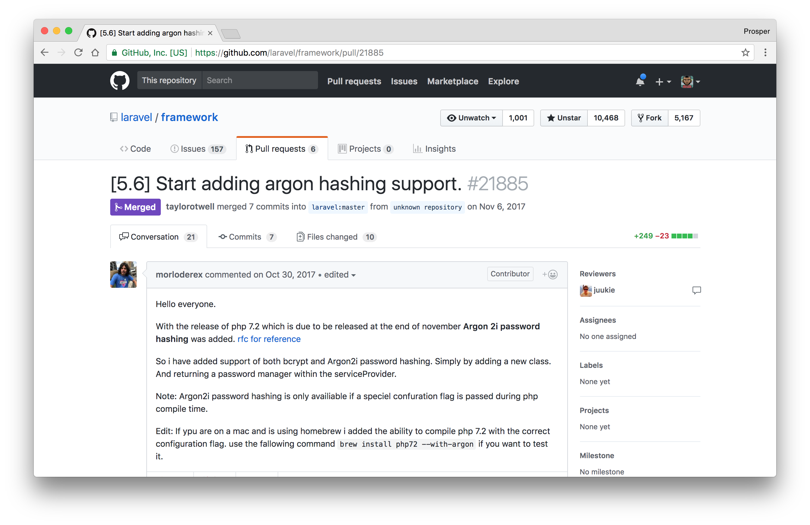 Argon Password Hashing Support