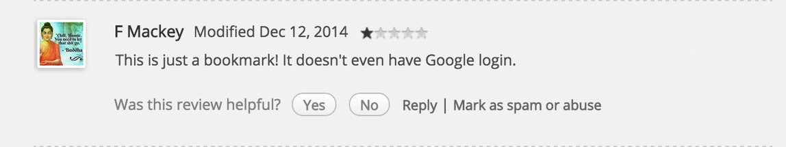 Bad Chrome Comment