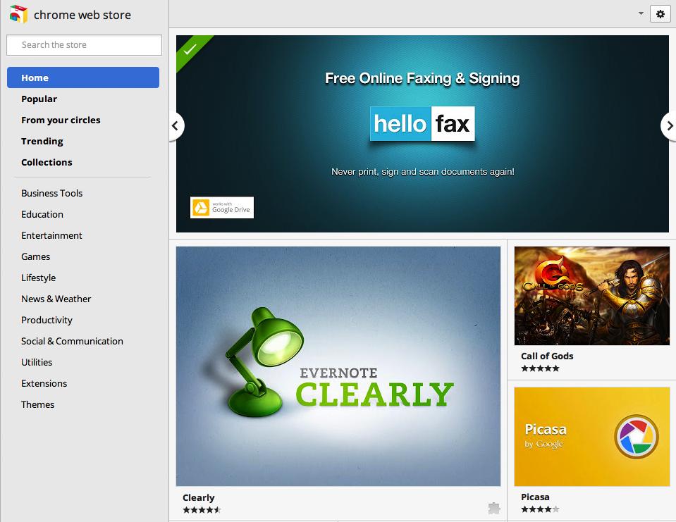 Deeper integration in Chrome WebStore