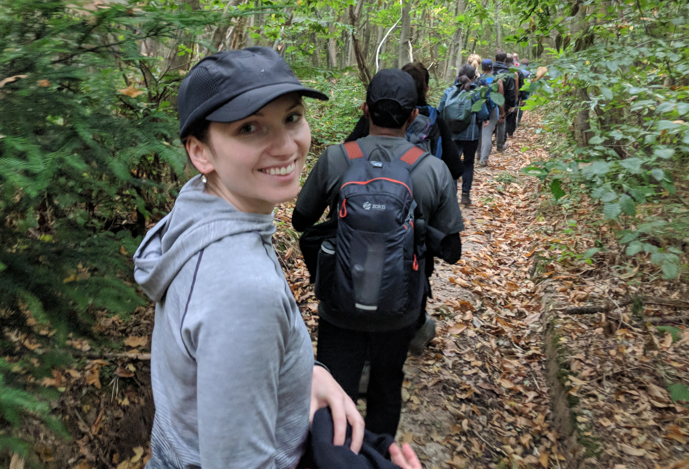 Auth0 employee Aoife Crowley hiking