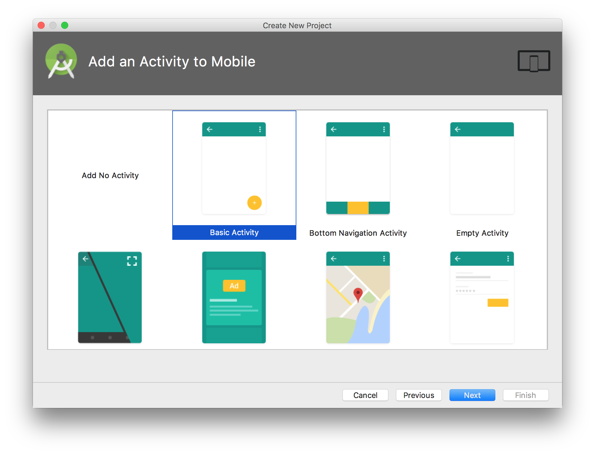 Firebase Basic Activity Template