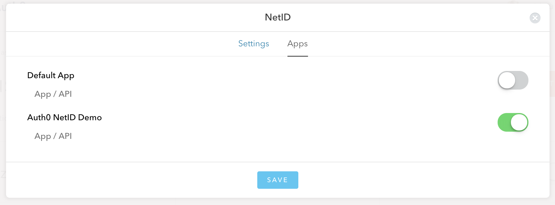 Enabling the Auth0 netID Demo app