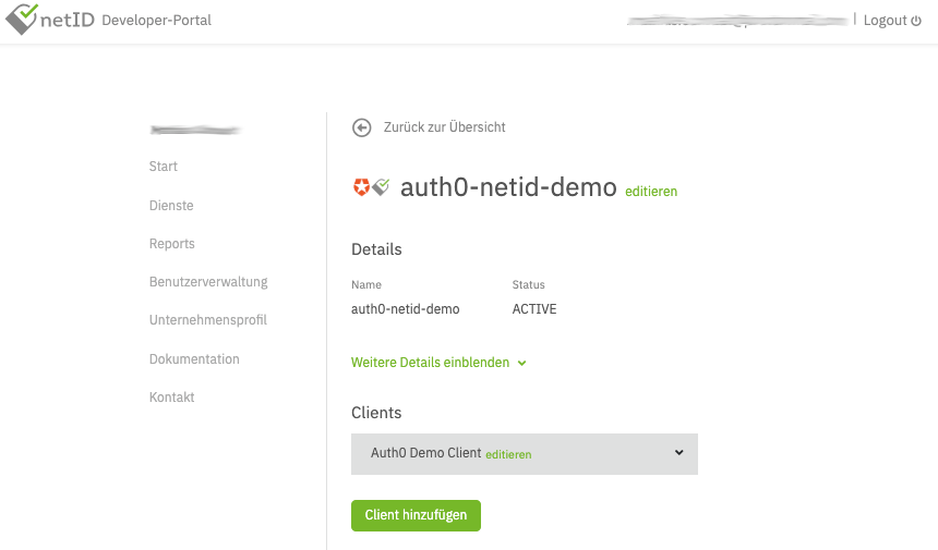 Creating a new netID client