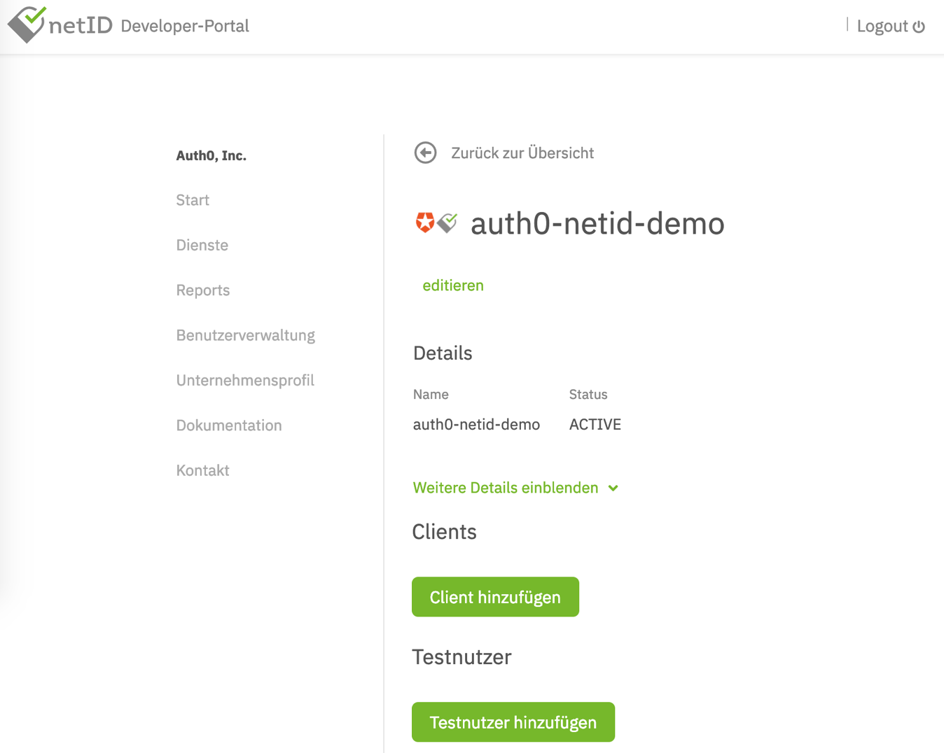 Reviewing the details in the netID developer