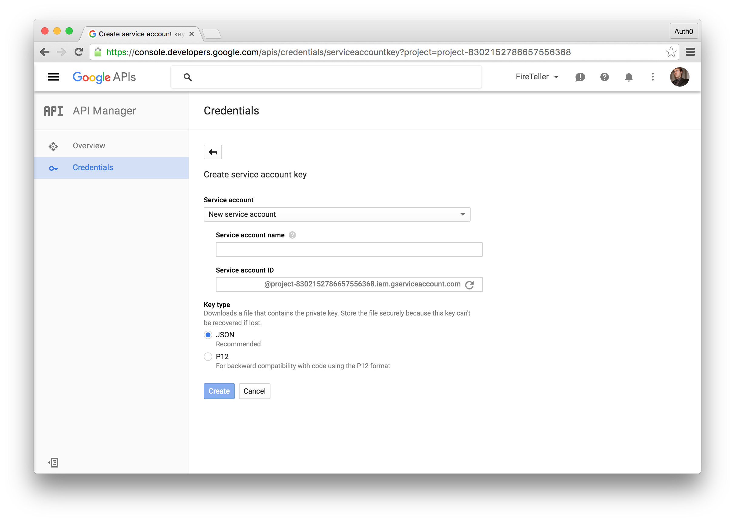 Firebase authentication with the firebase 3 0 sdk and auth0 integration dzone integration - Google developper console ...