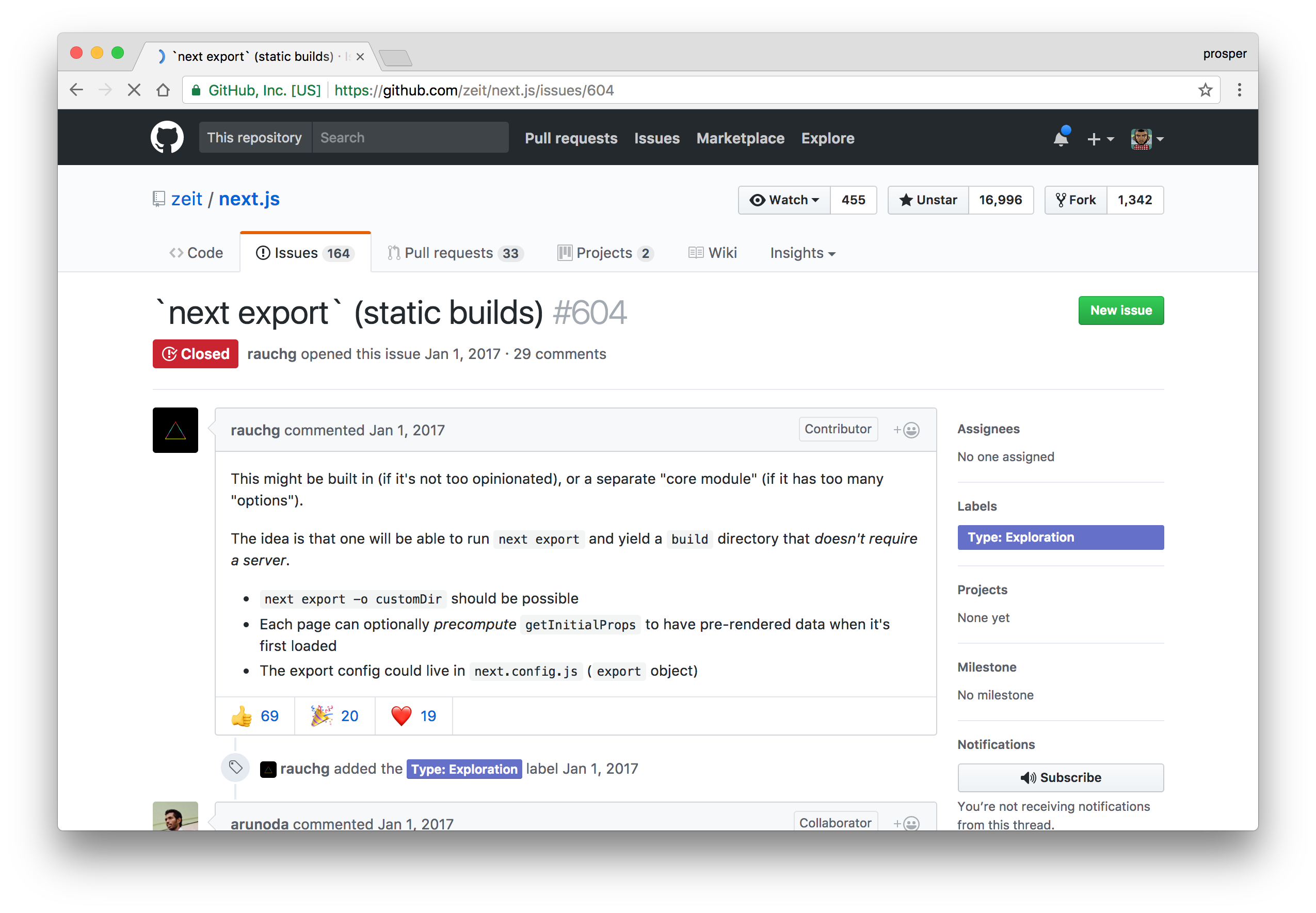 Static Export Support