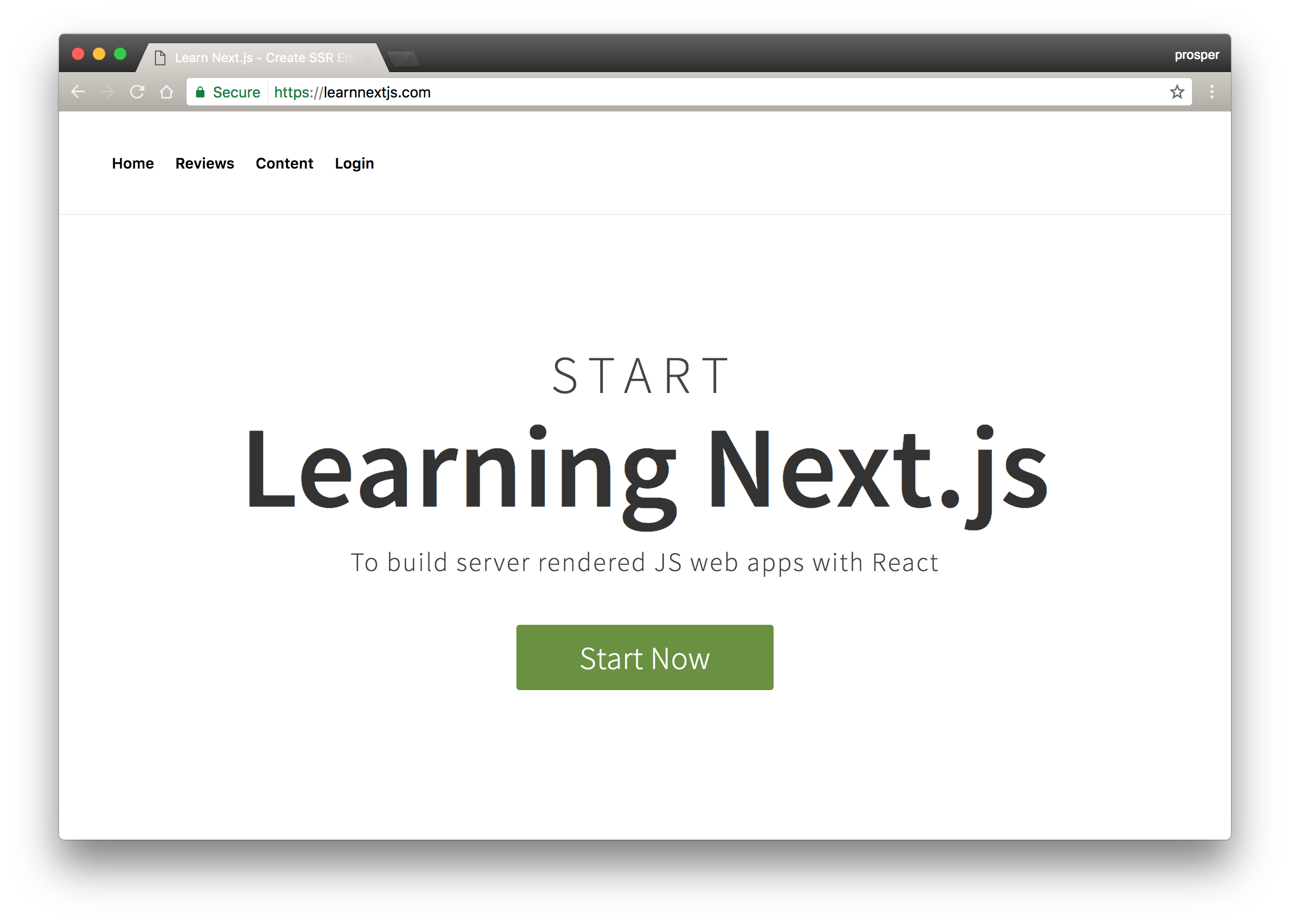 Learn Next.js