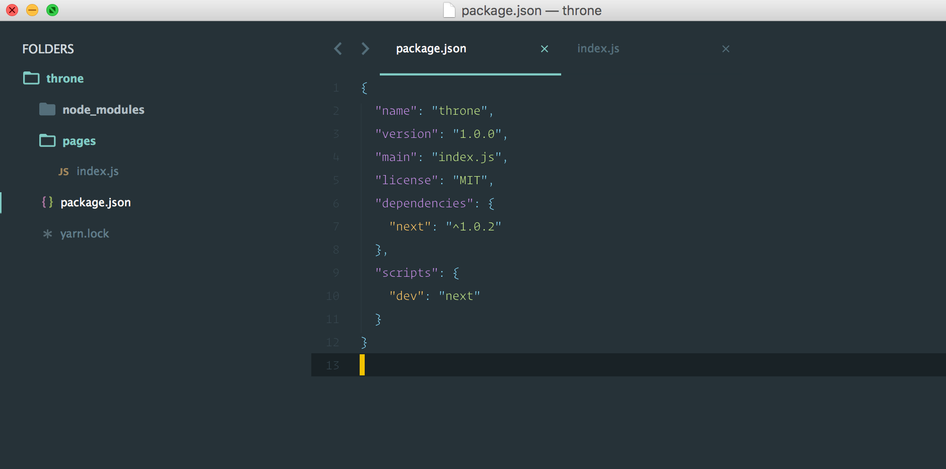 Add Script to package.json