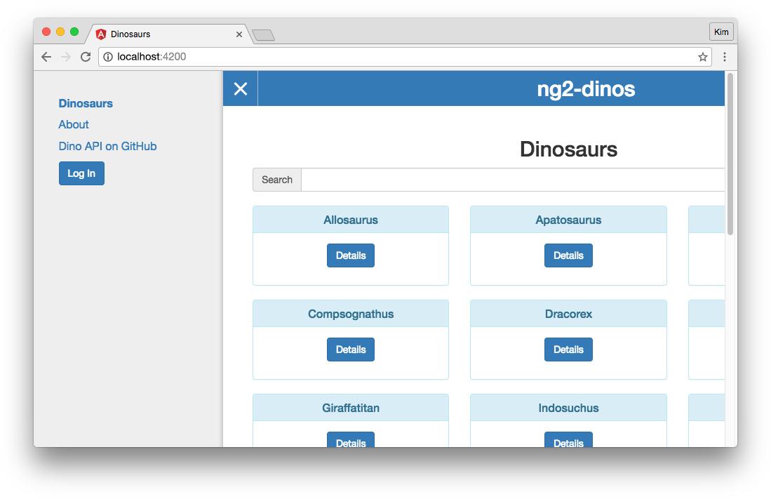 Log in Auth0 Angular 2 app