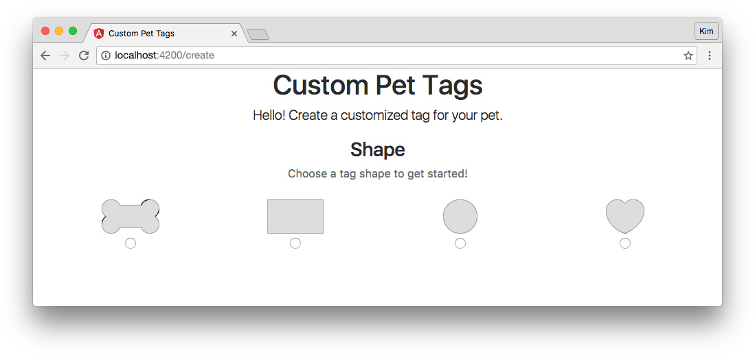 "Angular app with ngrx/store - ""Create"" page with smart and dumb components"