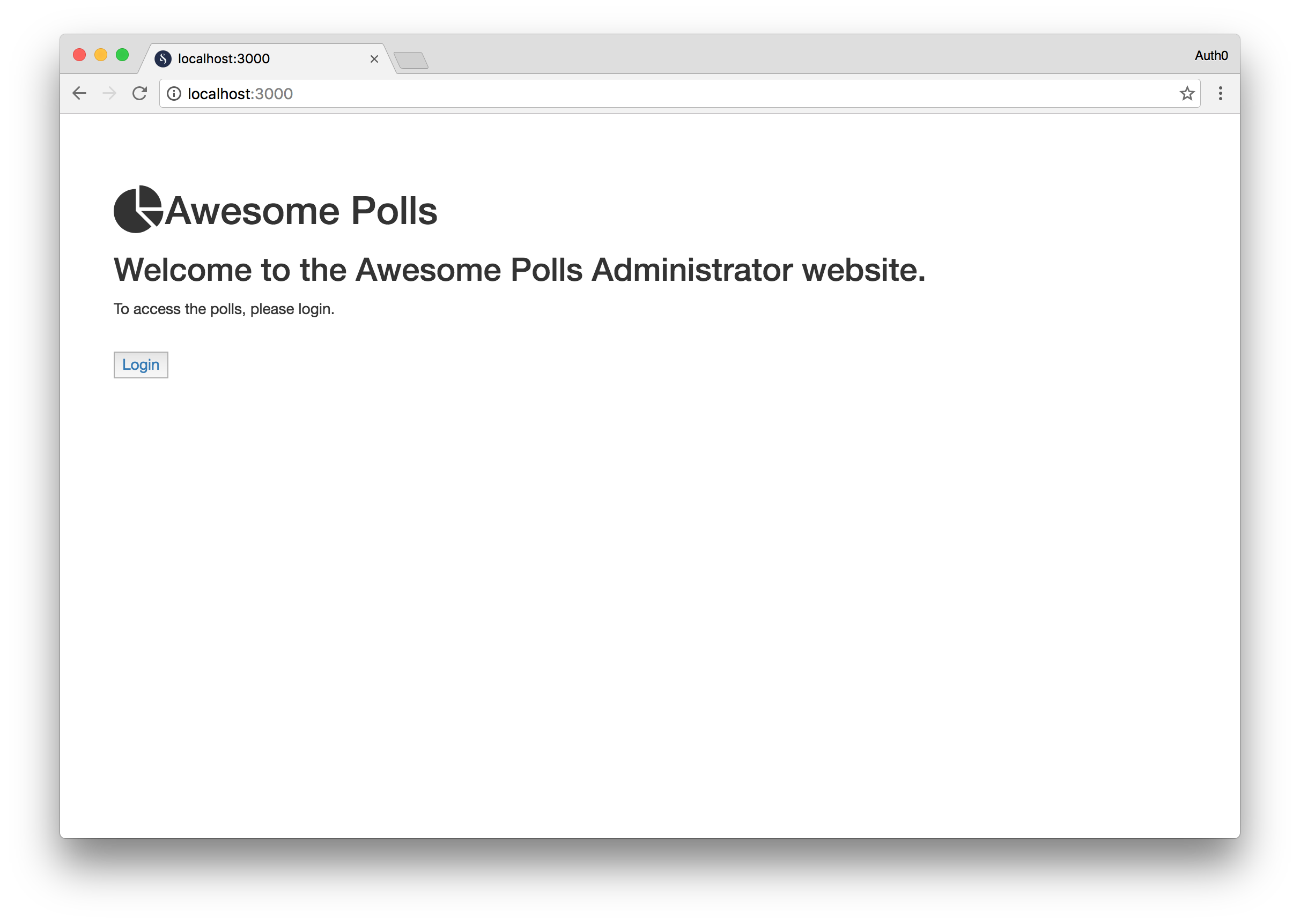 Awesome Polls Homepage