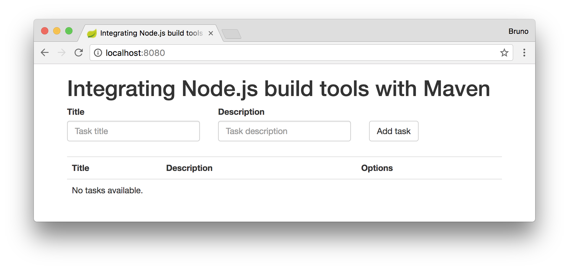 Integrating Node js Build Tools with Maven