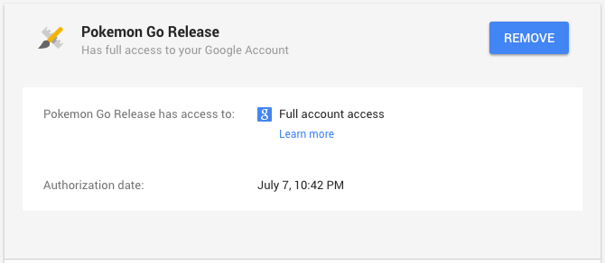 All access in Google account