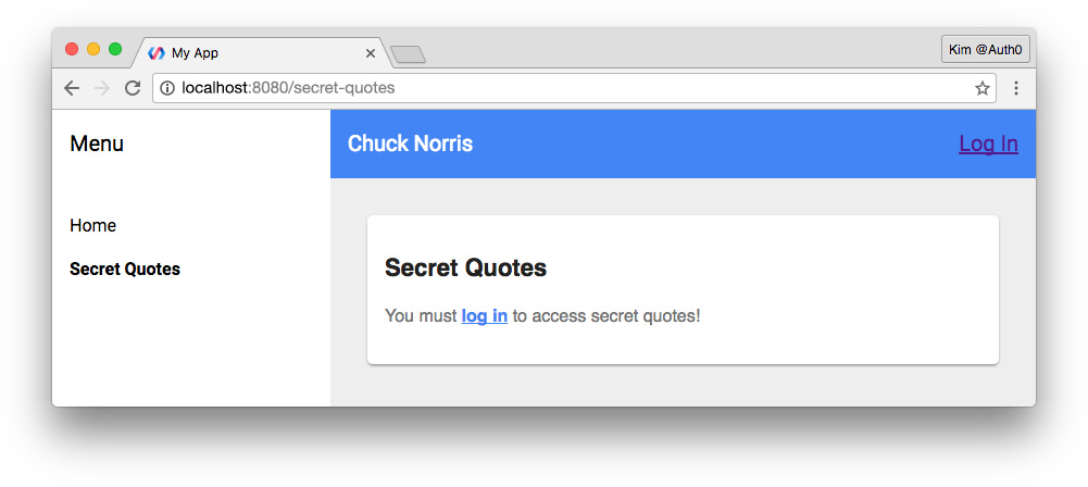 Polymer unauthenticated view of secret quotes