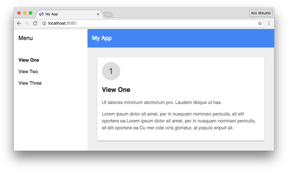 Polymer app starter kit browser view