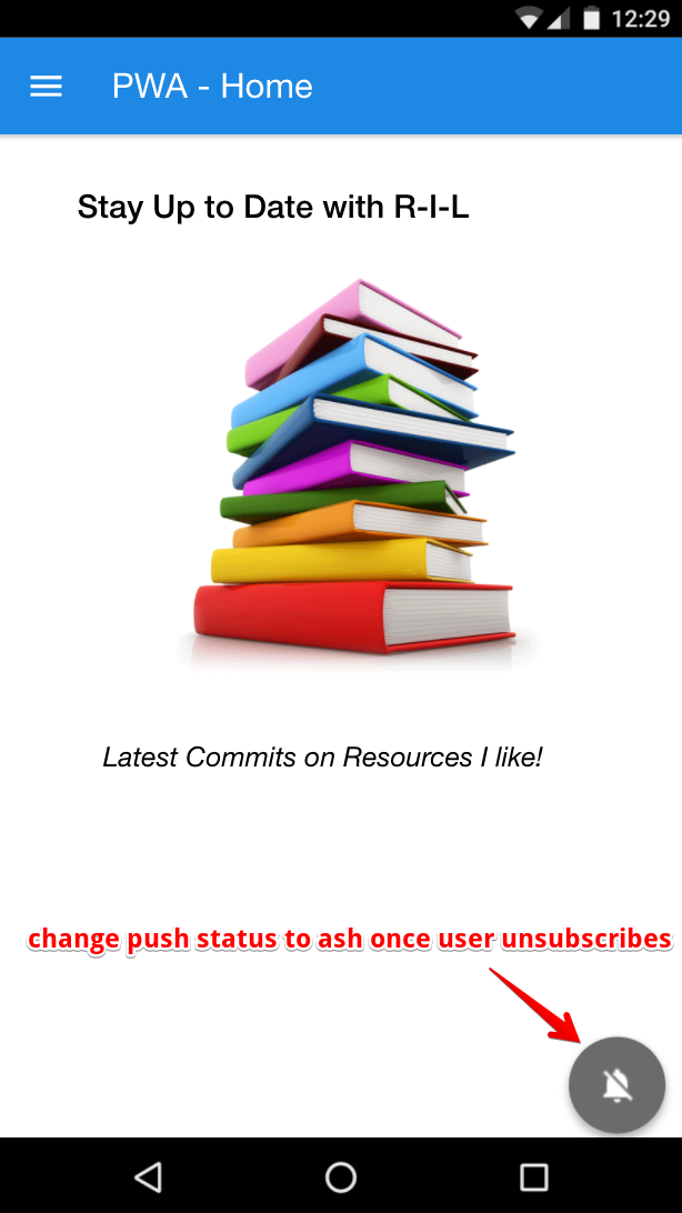 Change Push status to ash