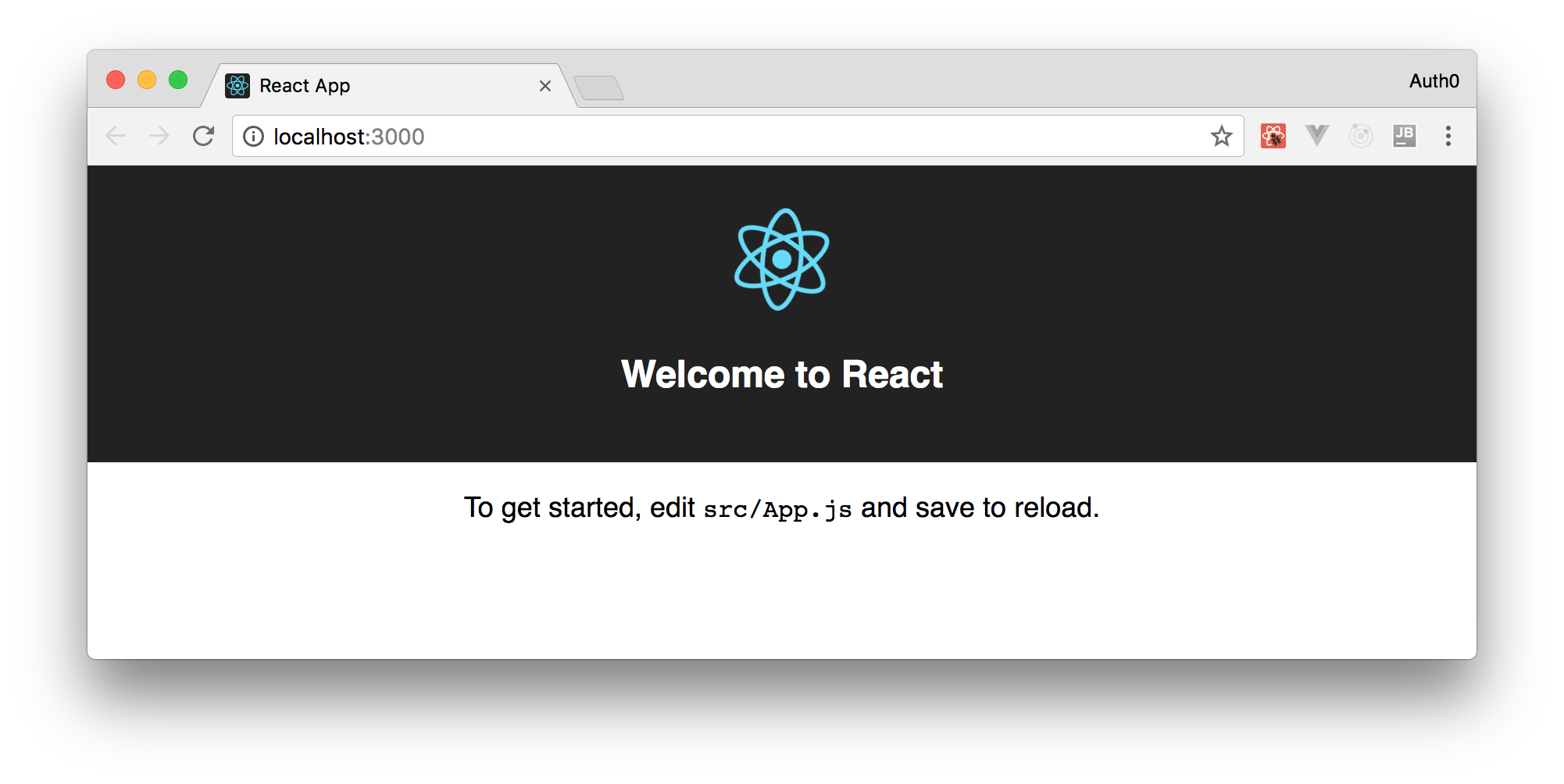 Default SPA create the create-react-app-tool