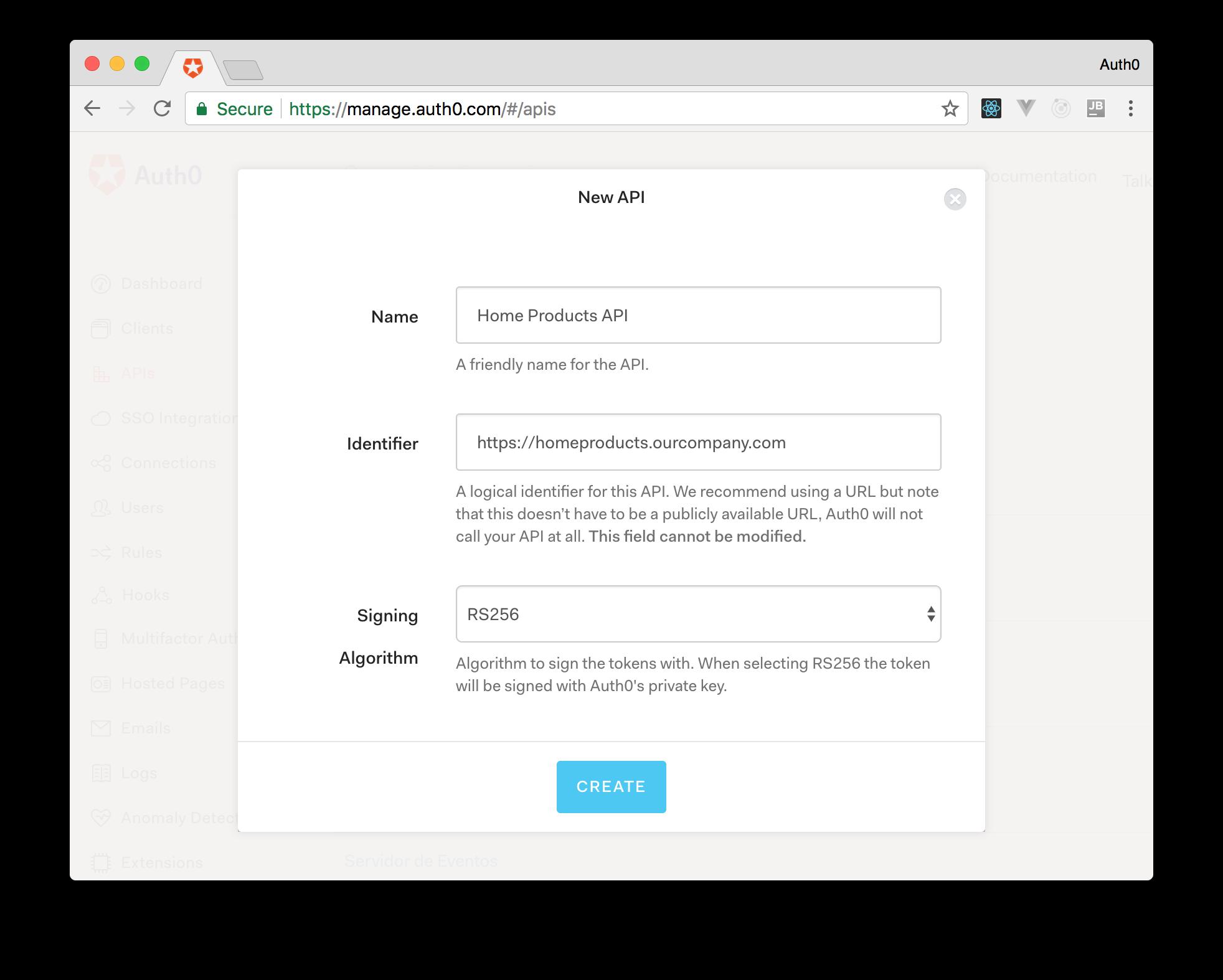 Creating Auth0 APIs