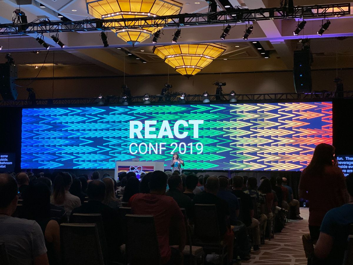 The stage at React Conf