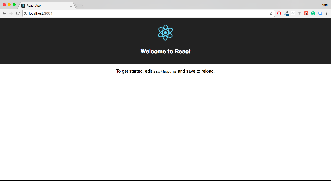 ReactJS hello world