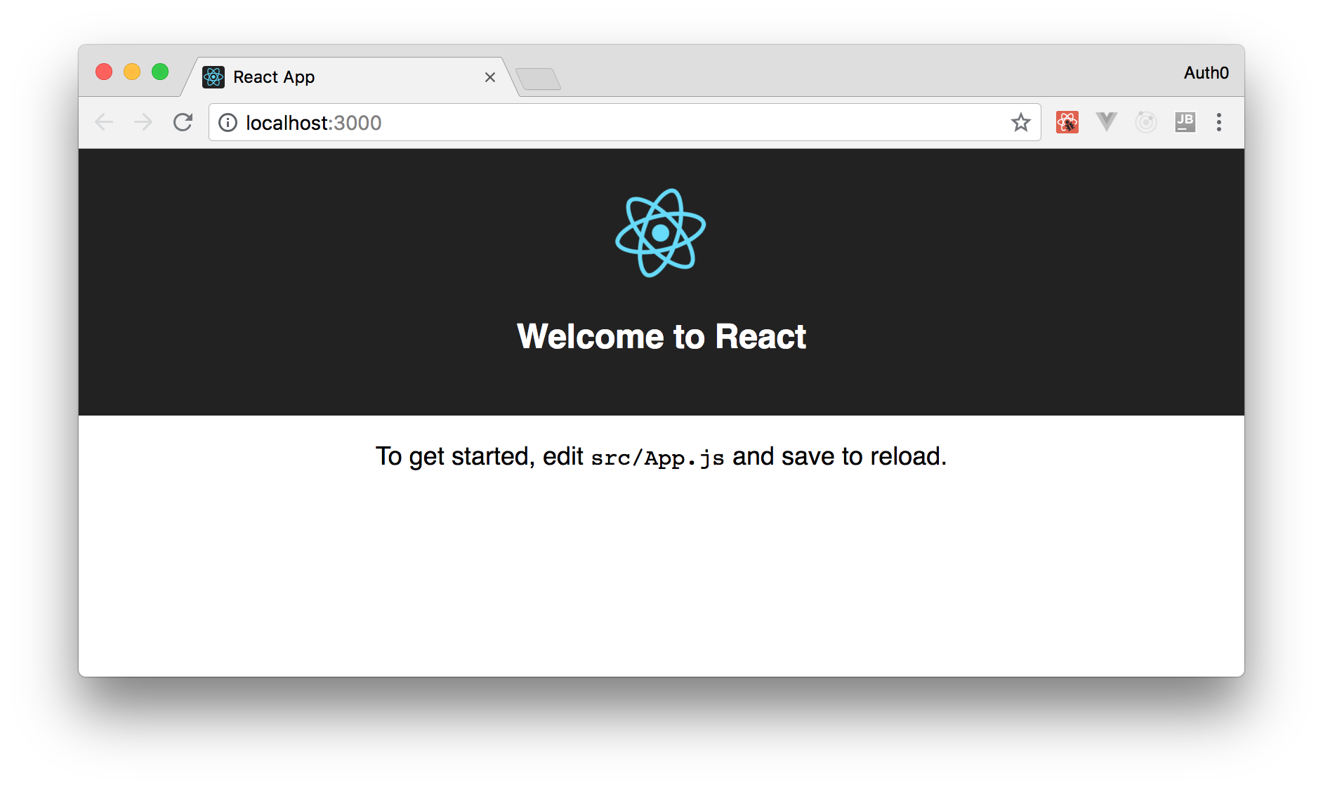 Welcome to React local starting page