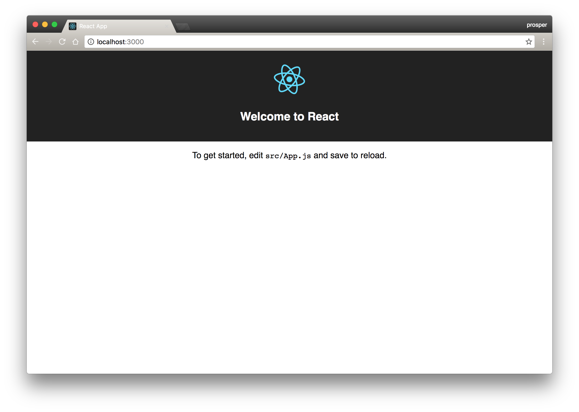 Create React App localhost view showing