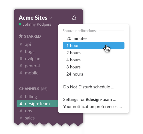 Do Not Disturb Slack