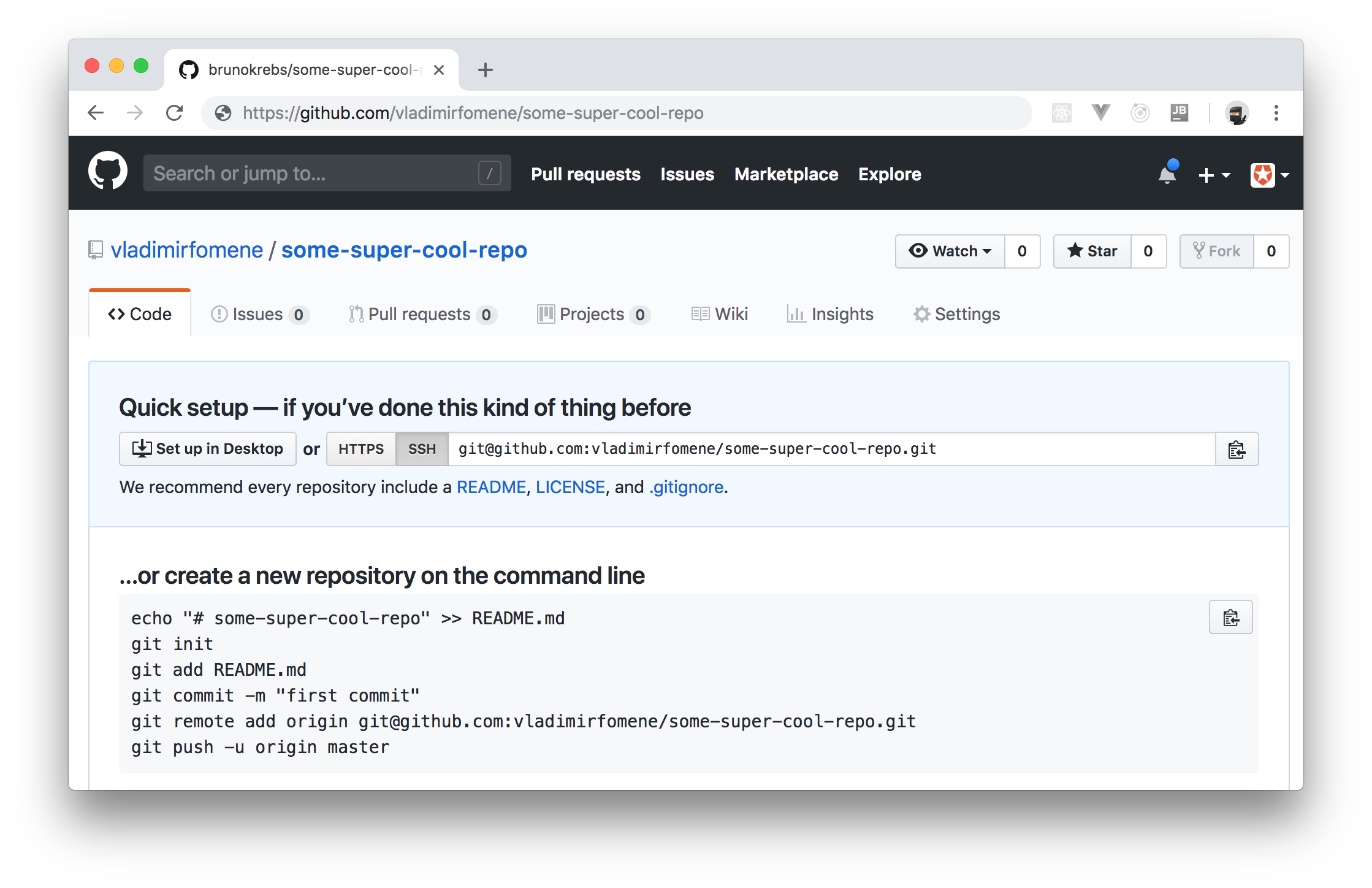GitHub repo created through a Retrofit client