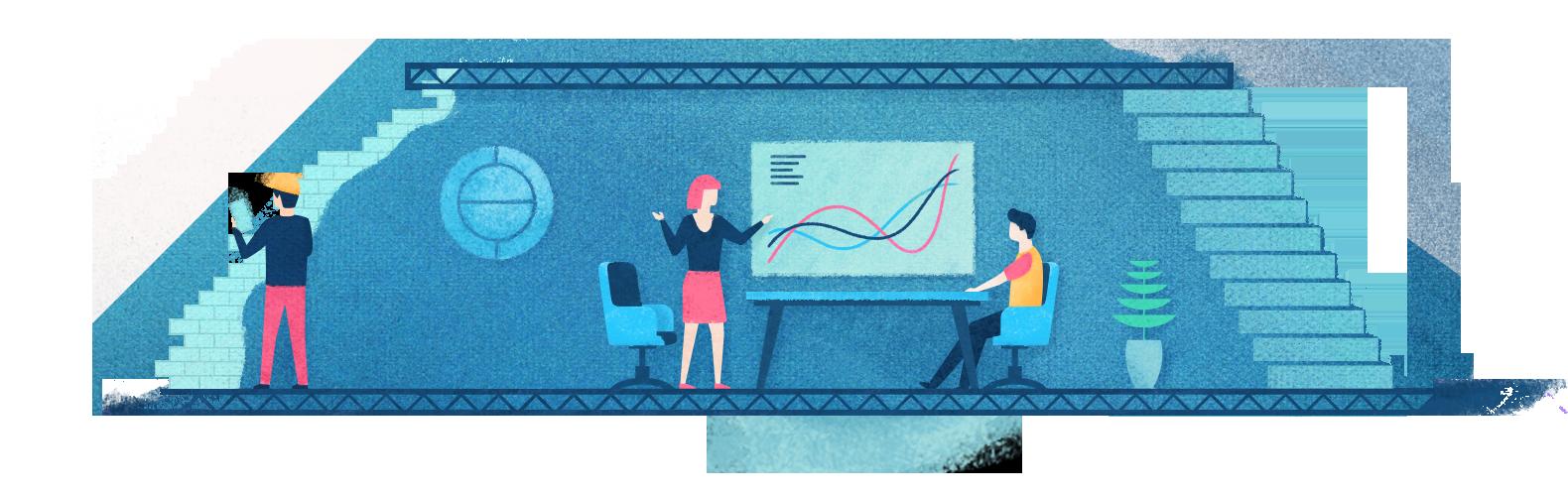 Startup Unicorn analyzing customer data in their decision-making