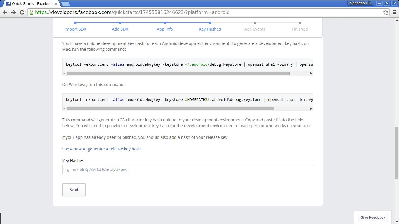 Facebook social login: setting the signature hash code