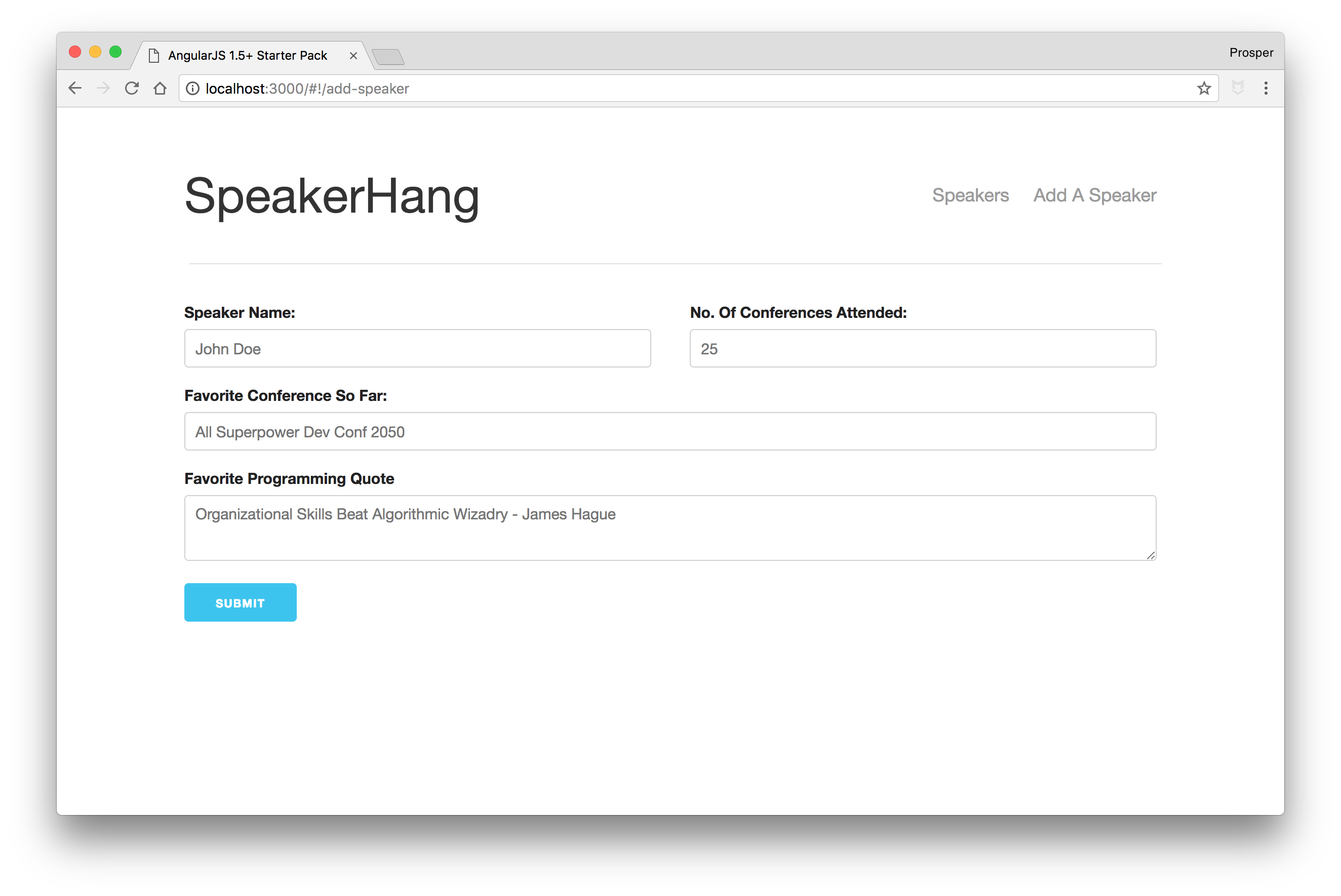 SpeakerHang - Add Speaker