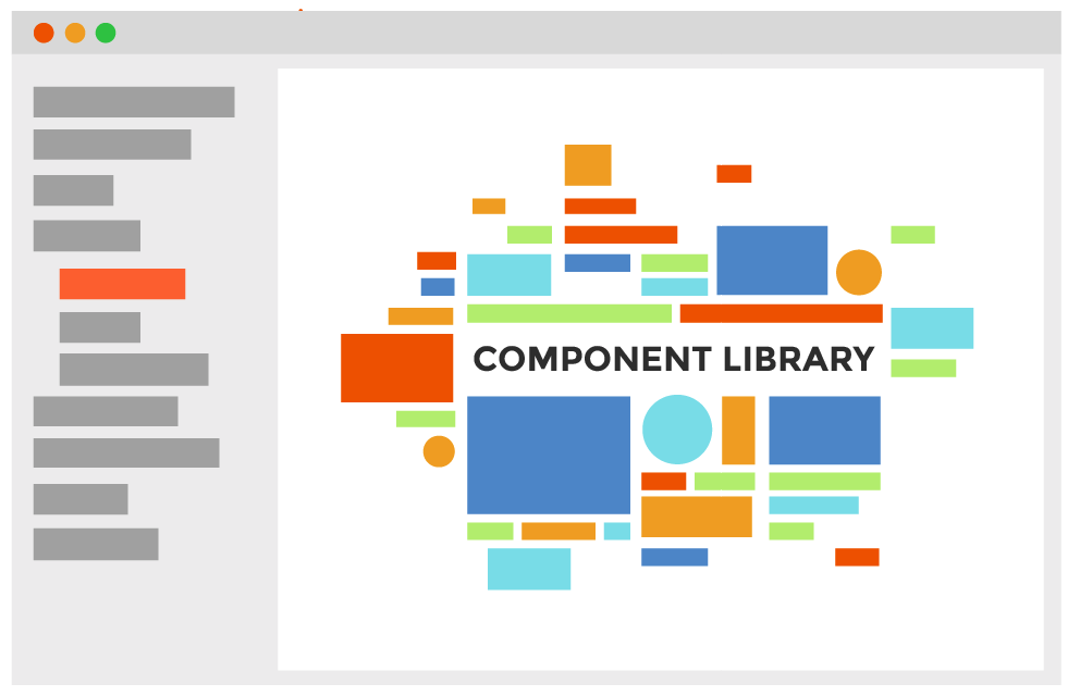 Graphic of example web component library