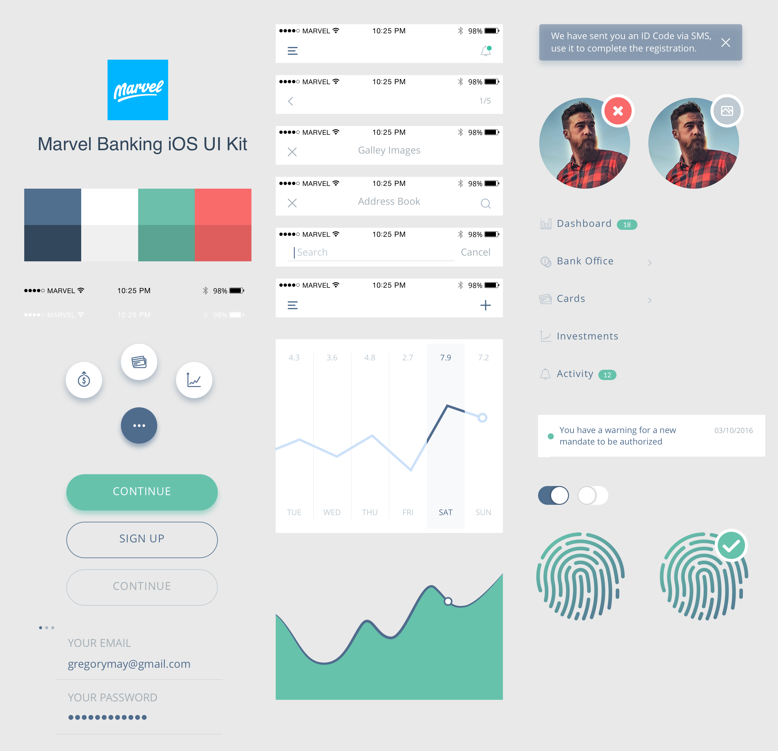 Marvel Banking UI Kit