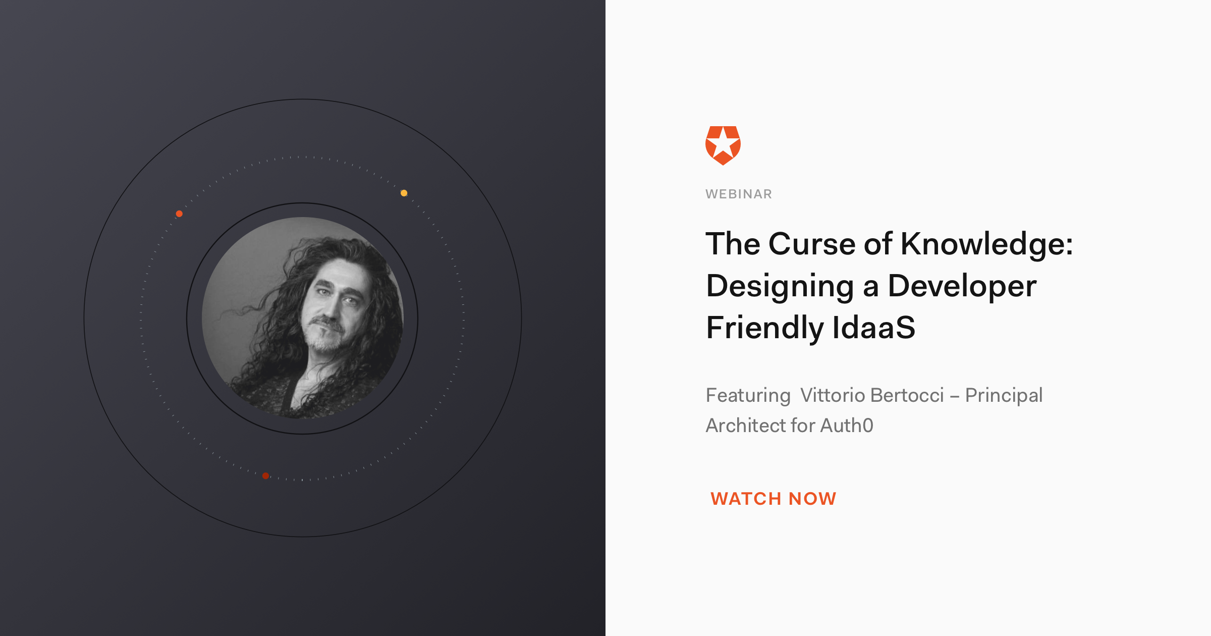 IDaaS Curse of Knowledge Webinar - Auth0 Principal Architect Vittorio Bertocci