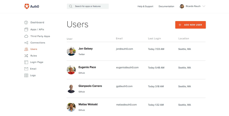 Auth0 User Management