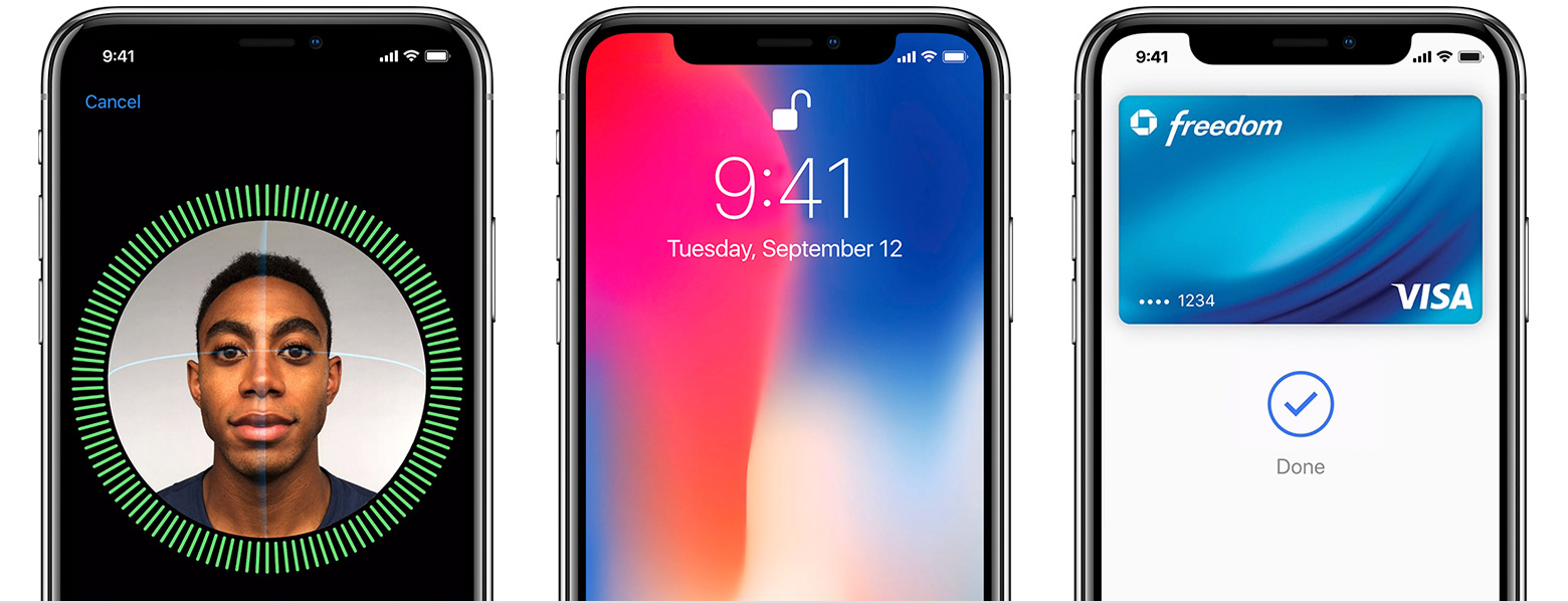 iOS 11 iPhone X Face ID