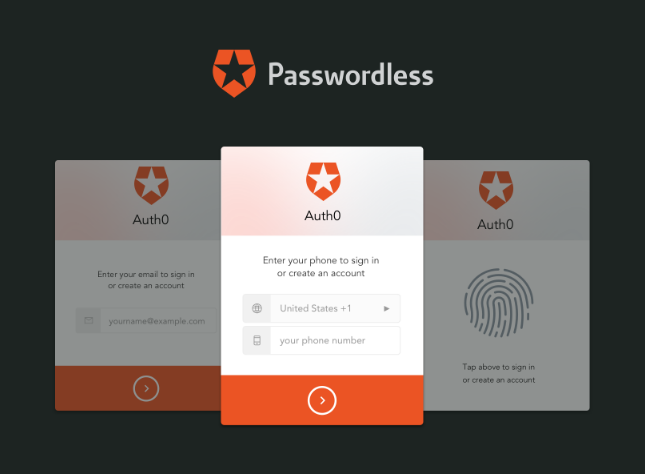 Auth0 passwordless authentication