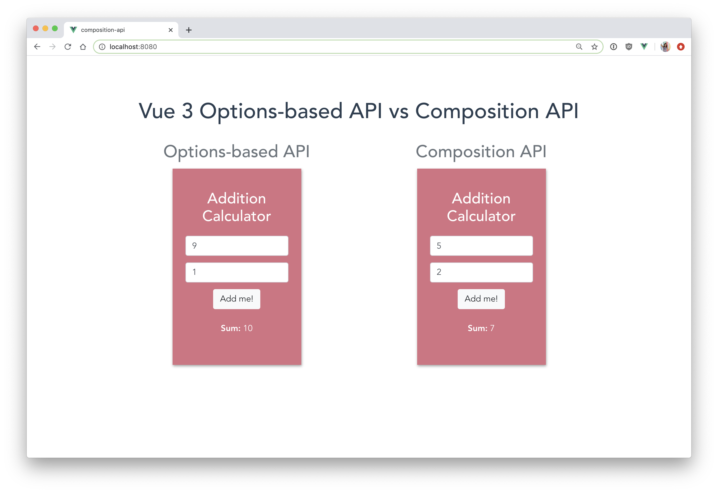 Vue 3 Composition API vs Options API