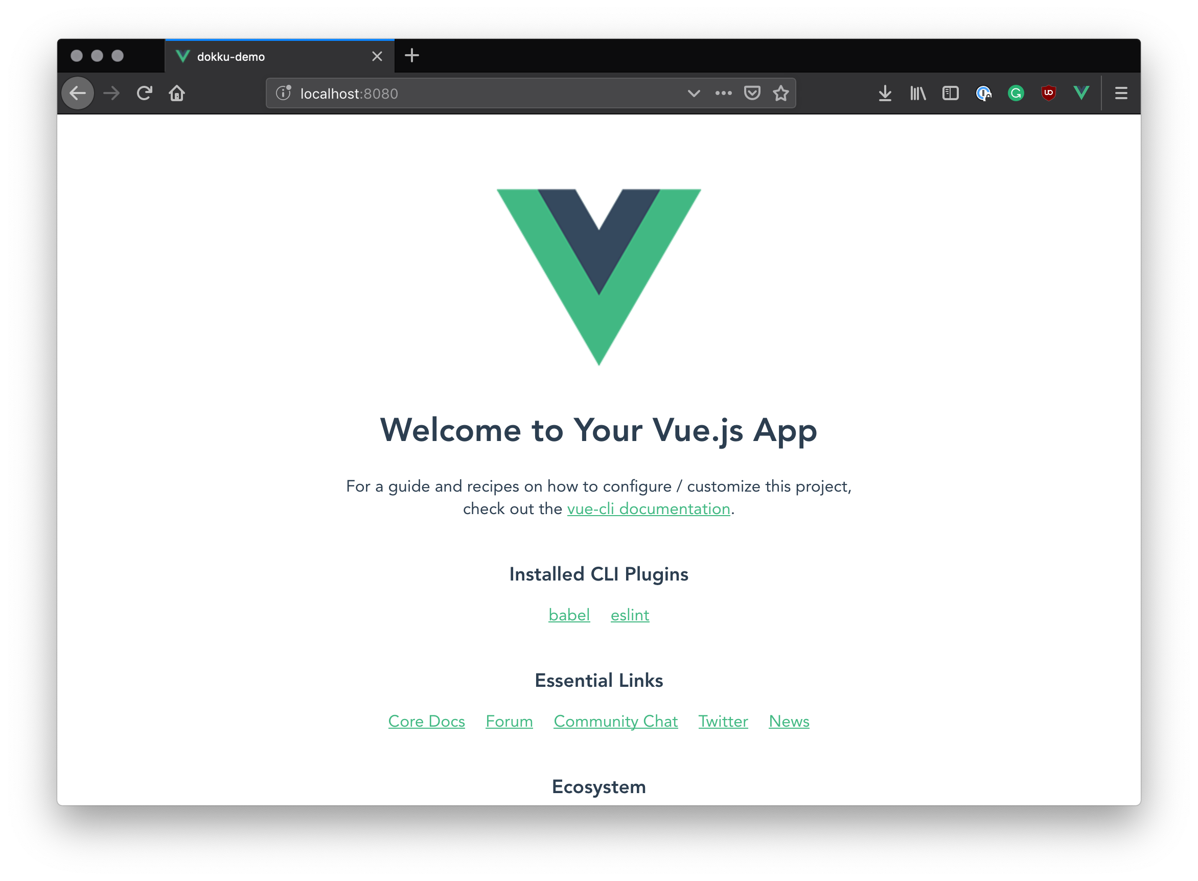 Vue.js boilerplate app