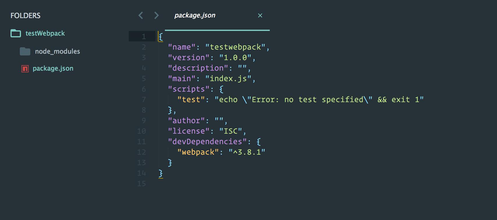 Webpack - Dev Dependency