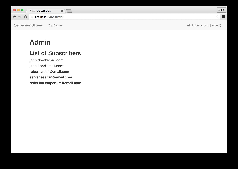 Secret Admin Page