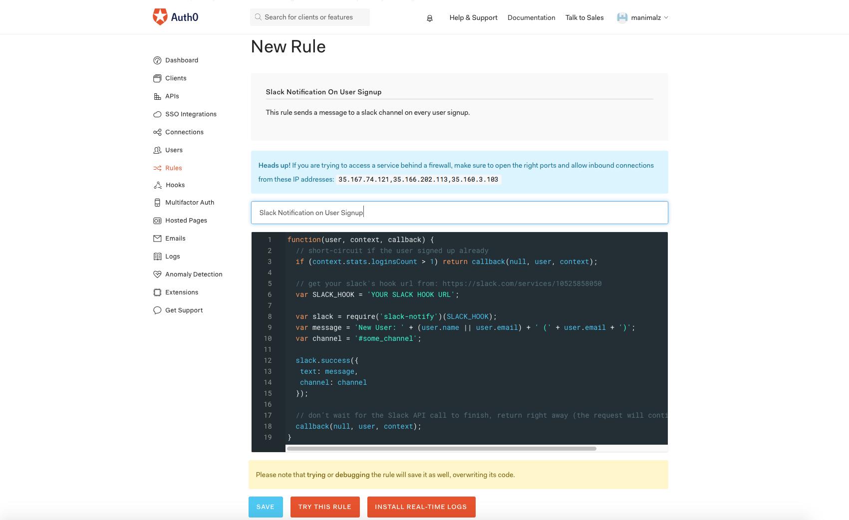 Web task - Rule Editor