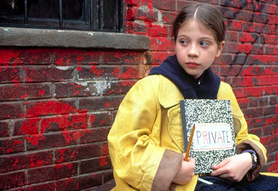 Harriet the Spy keeping journal's data secure - analogy