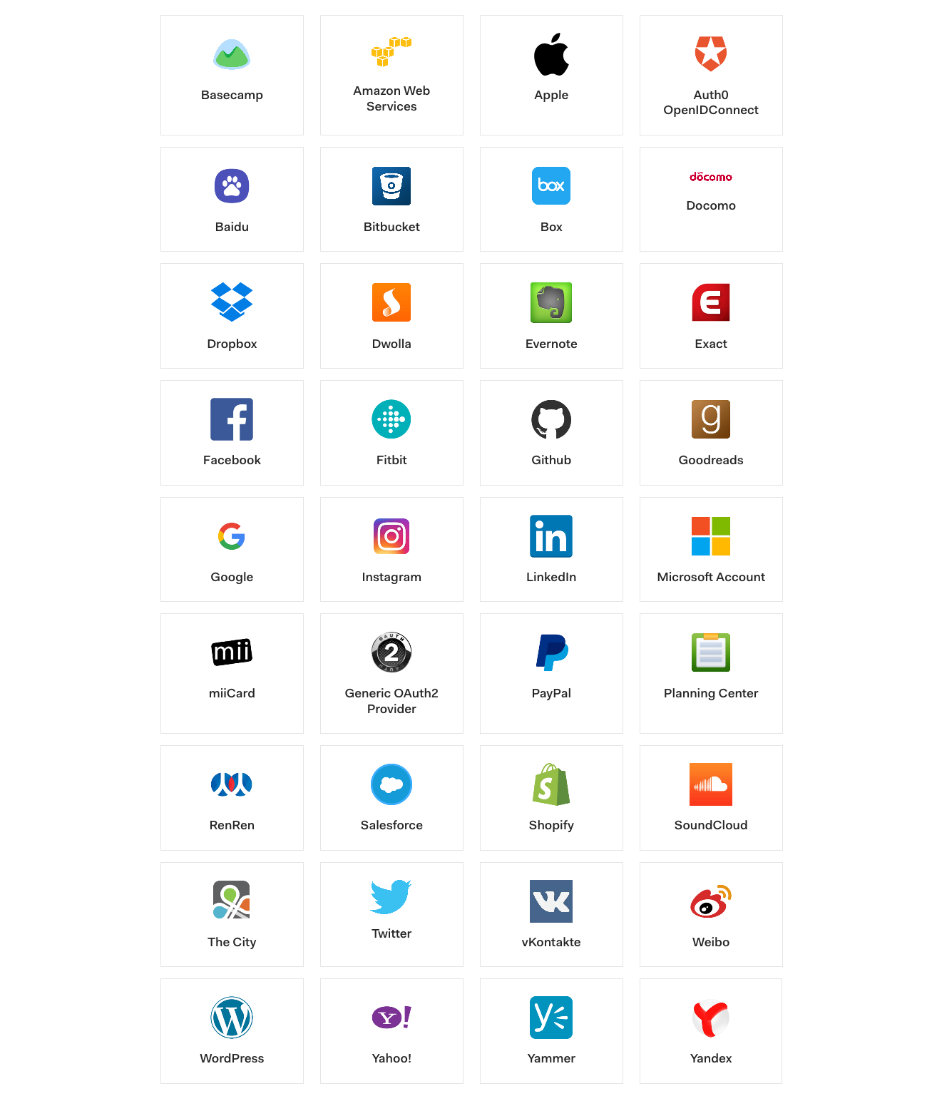 An image of Auth0 social identity providers