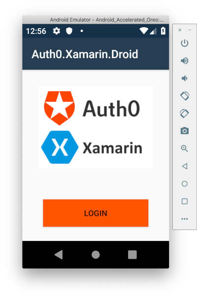 Auth0 login screen on Android