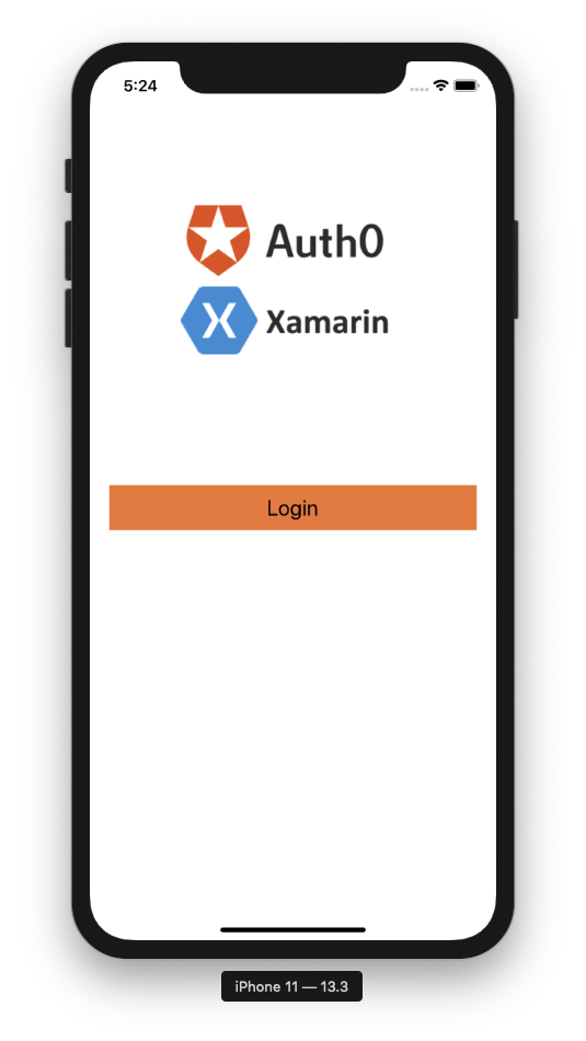 Auth0 login screen on iOS