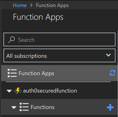 Creating an Azure Function in the portal