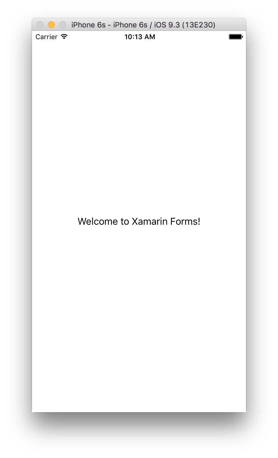 Hello World in Xamarin